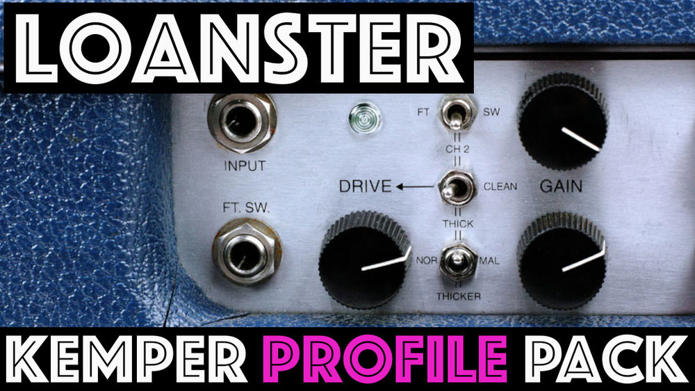 "Loanster Pack! - NOW ON SALE FOR $10The Loanster Kemper Profile Pack seeks to capture the sounds of the Lonestar state, but ends up being capable of so much more! These are arguably the best cleans to come out of SoCal and the drive channel is flexible. The two channels are nearly identical but channel 2 has the option of adding an addition gain stage or ""Drive"" in front of the channel. These two cascading gain stages make for world of possibilities so we've profiled them in all sorts of combinations...."