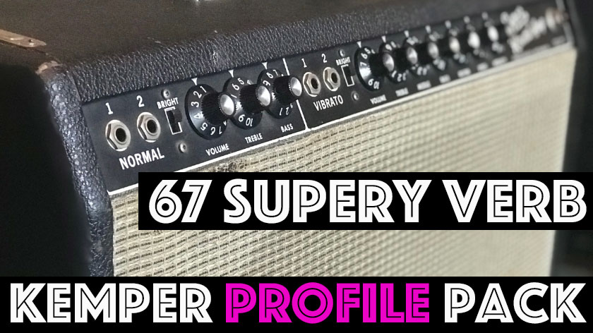 The 67 Supery Verb Kemper Profile Pack captures the sound of an all original 1967 American classic. Featuring 4 x 10 inch original vintage speakers, players can expect a tight bass and glassy, clear top end. At 40 watts there is plenty of headroom for cleans but once it gets going this is the sound of some of the most iconic recordings ever! The 67 Supery Verb Pack contains 37 Studio and 13 Direct profiles. We've captures the Normal, Normal w/ Bright, Vibrato, and Vibrato with Bright channels giving you a variety of flavors. Plus we've included some overdrive pedals packed in because this circuit loves pedals!!!