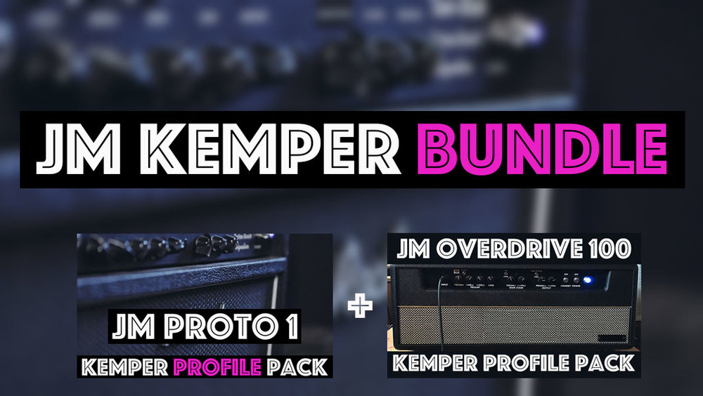 The JM Kemper Bundle contains both the JM Proto 1 Kemper Profile Pack and the JM Overdrive 100 Kemper Profile Pack. Two signature circuits beautifully captured by the Tone Junkies across a total of 47 studio profiles and available as a bundle an sizable discount compared to purchasing both packs on their own.