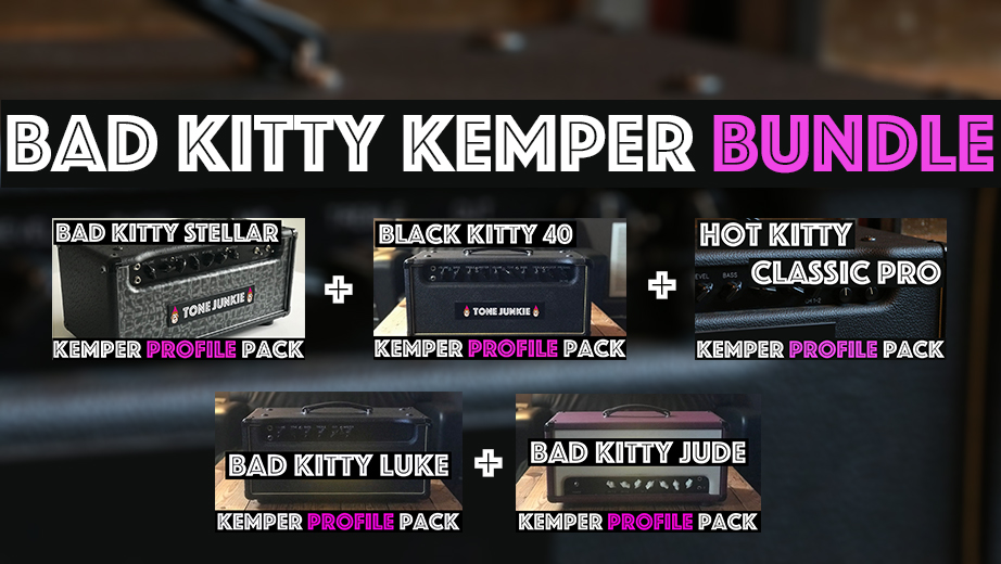 Naughty Kitty! - The Bad Kitty Kemper Bundle contains the Bad Kitty Luke, Bad Kitty Stella, Bad Kitty Jude, Black Kitty 40 and the Hot Kitty Classic Pro Pack. This pack has so many different flavors including American clean tones from the classic pro profiles. The Luke is like a giant AC30, the Stella is huge sounding with EL34s in the power section and the Black Kitty 40 is midrangy and cuts thru any mix.