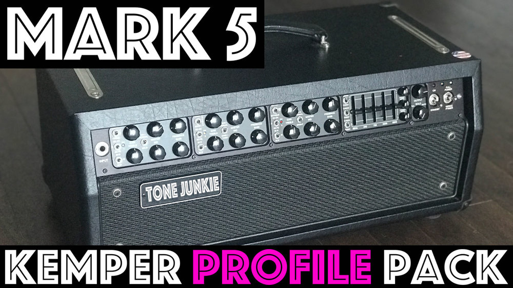 Mark 5 Tones! - NOW ON SALE FOR $10The M5 Pack captures the sound of the Mark V amp. Profiled thru 2 Celestion V30 speakers, these 37 beautifully captured profiles were produced using a Cascade Fathead II and a shure SM57 each ran thru API preamps and blended together. This 3 channel, 9 mode amp is an absolute tone Ferrari. Profiles contain the letter