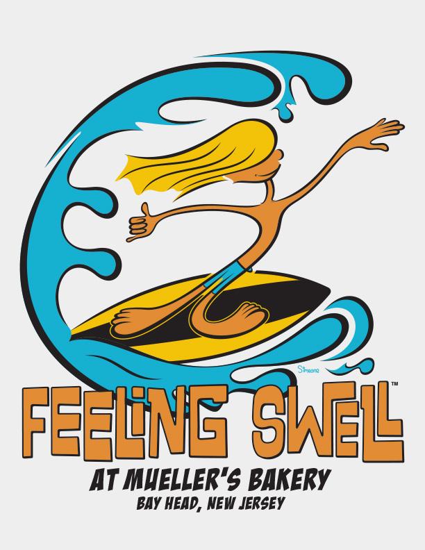 Feeling Swell T-shirt Illustration