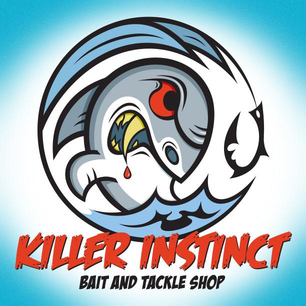 Killer Instinct Bait and Tackle Shop Logo