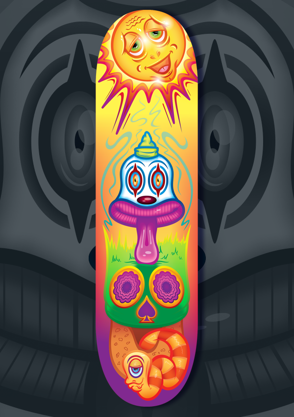 Shroom Clown Skateboard Deck