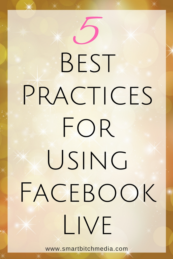 5 best practices for using Facebook live