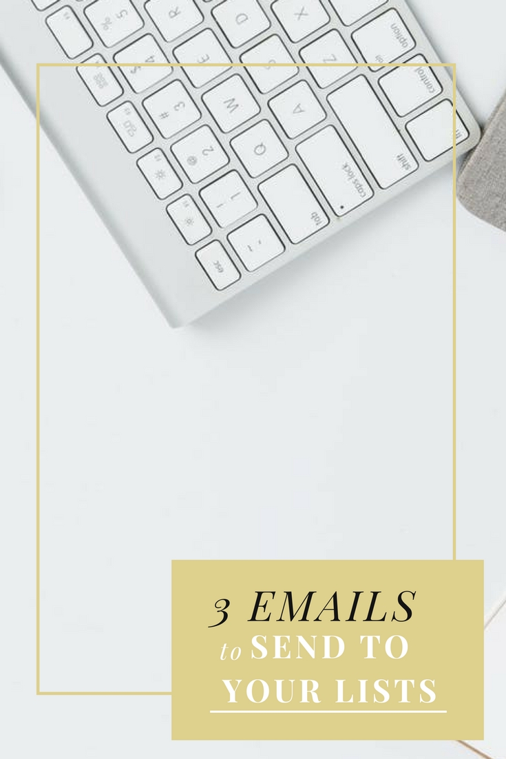 3 emails to send to you lists. #emailmarketing #email #marketing