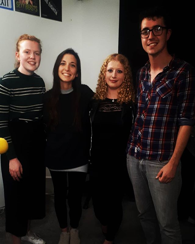 Half of the Montauks in for a chat with the wonderful @selectedpodcast this evening!  #indie #indiepop #interview