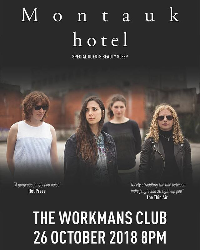 We are so excited to announce our headline show at @workmansclub on October 26th with @beautysleeptheband - we have been gigging all over the country this Summer and we can't wait to round off a fantastic  year with a Dublin show! Hope to see ya there! ❤  Tickets €8.50 from Eventbrite (link in bio)  #indie #indiepop #dublin #gig