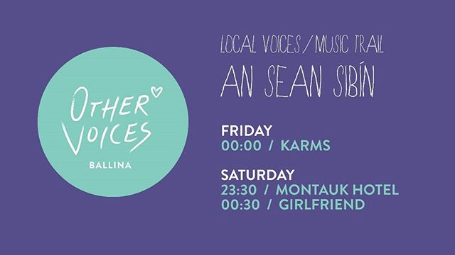 @othervoiceslive is this weekend! We can't wait to play this beautiful festival!  Catch us at An Sean Sibin at 11:30pm on Saturday with the amazing @girlfriendband on after!  #indie #indiepop #othervoices