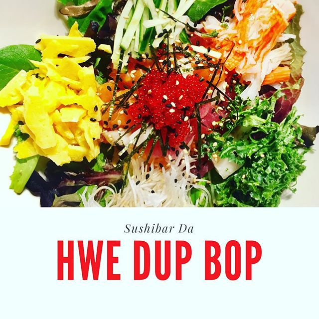 Our chief's special HWE DUP BOP come over #sushibarda and check it out! . . . #sushibarda #kingstondowntown #kingston #ontario #canada #koreanfood #food #good #fresh