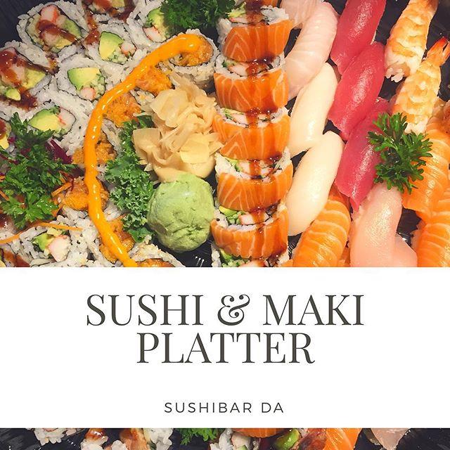 Reach to Sushibar Da to get a our delicious SUSHI & MAKI PLATTER . . . #sushibarda #kingston #kingstondowntown #ontario #canada #sushi #sushitime #sushi🍣 #sushiroll #sushis #sushirolls #sushibar #sushiart #sushiman #sushiya #sushimania #maki #japanesefood