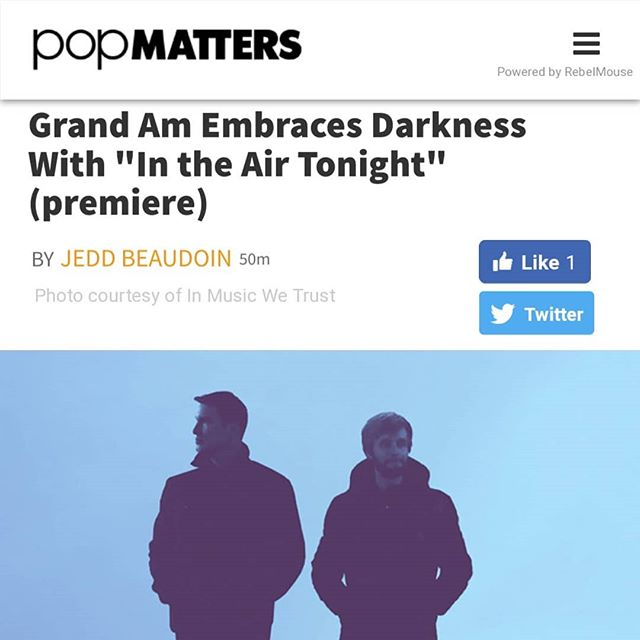 Stoked to have our visual for our take on In The Air Tonight premiered by @popmatters 🙏🤘 link in bio check it!