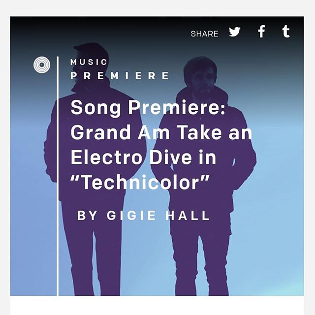 Big thanks to @officialculturecollide for premiering our latest song Technicolor 🙏 Link in bio to listen.  Hope you dig it!