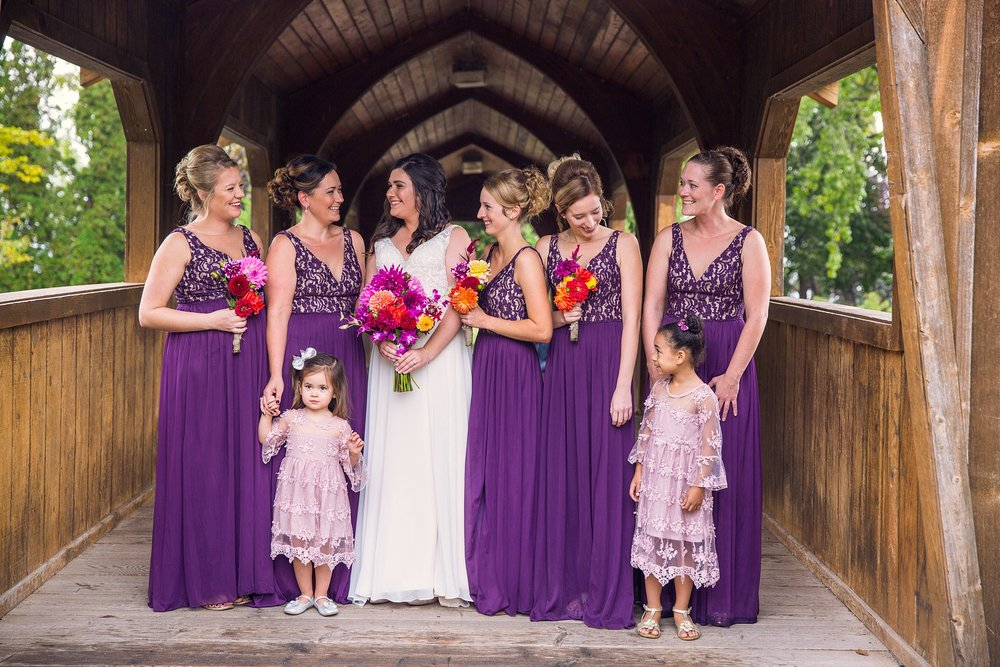 Bridesmaids Lakeside park Fond du Lac Wisconsin wedding photographer