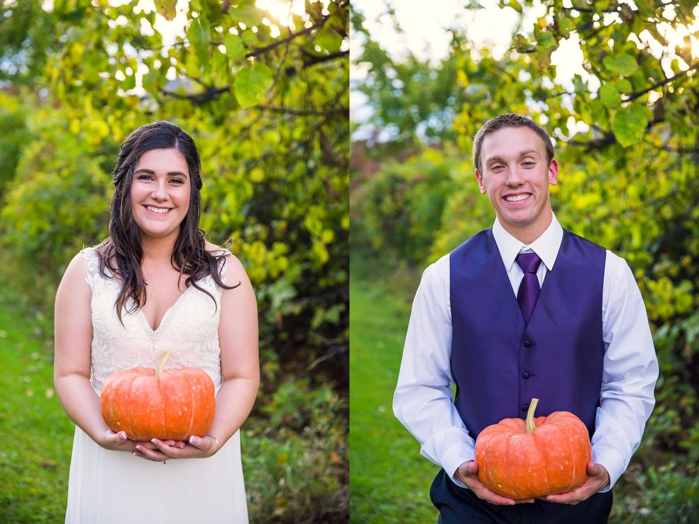 Wisconsin October Autumn wedding photography