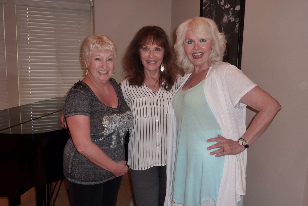 "Tanya Lemoni George    ""Here is a photo of one of Elvis' costar Tanya Lemoni George (centre); she was the belly dancer in the '68 Special with my BFF""  - Audrey"