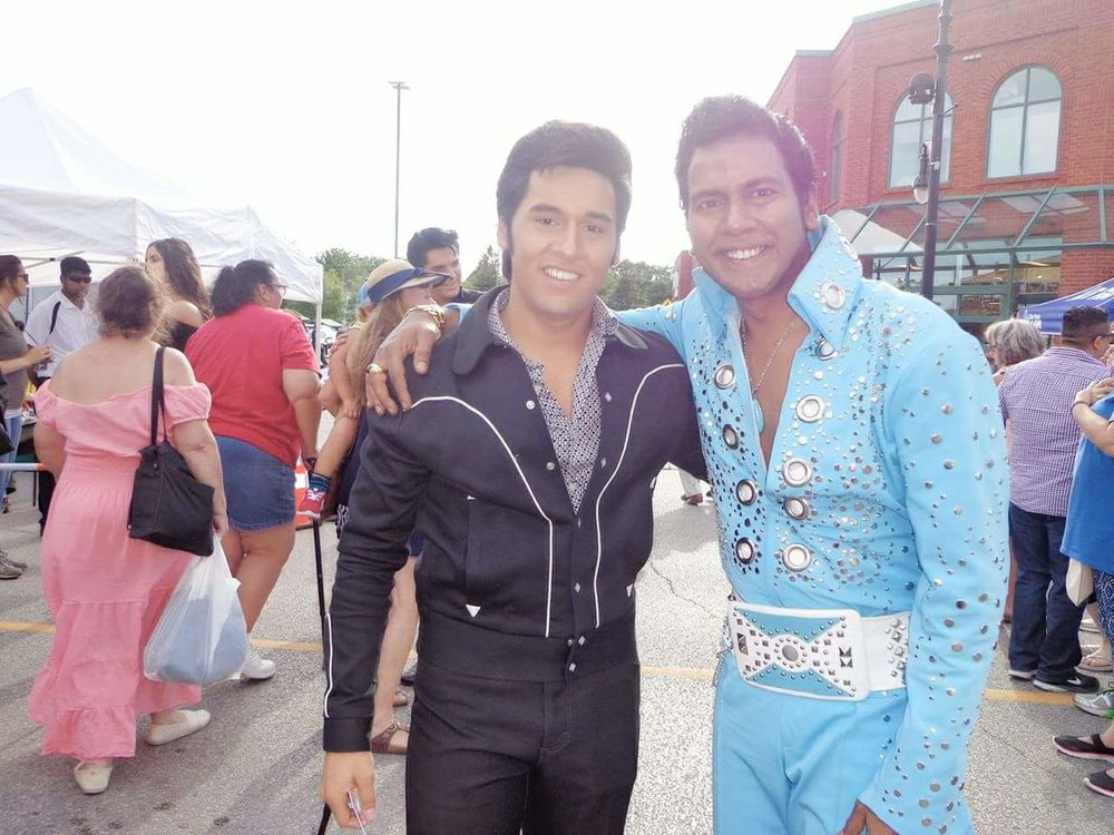 ETAs  Cote Deonath  (left) and  Lorensz Francke  (right) at the Collingwood Elvis Festival, 2017.   Submitted by  Lorensz Francke
