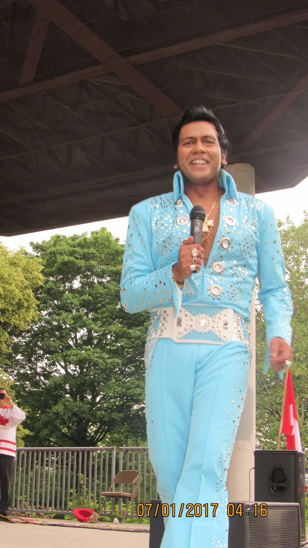 ETA  Lorensz Francke  performing at the Collingwood Elvis Festival, 2017.   Submitted by  Lorensz Francke
