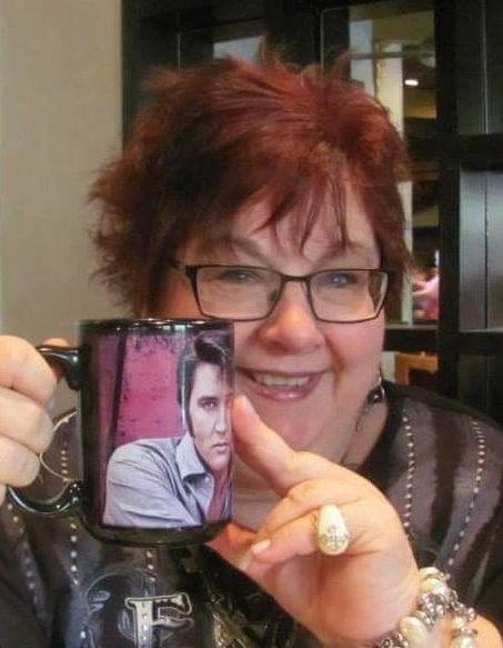 Wendy King with her Elvis mug.