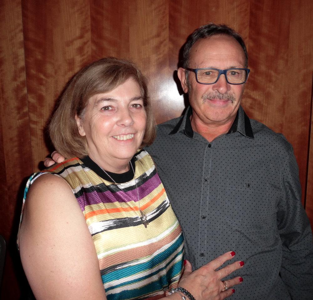 Gordon's Road Manager, David Regan and wife, Linda.
