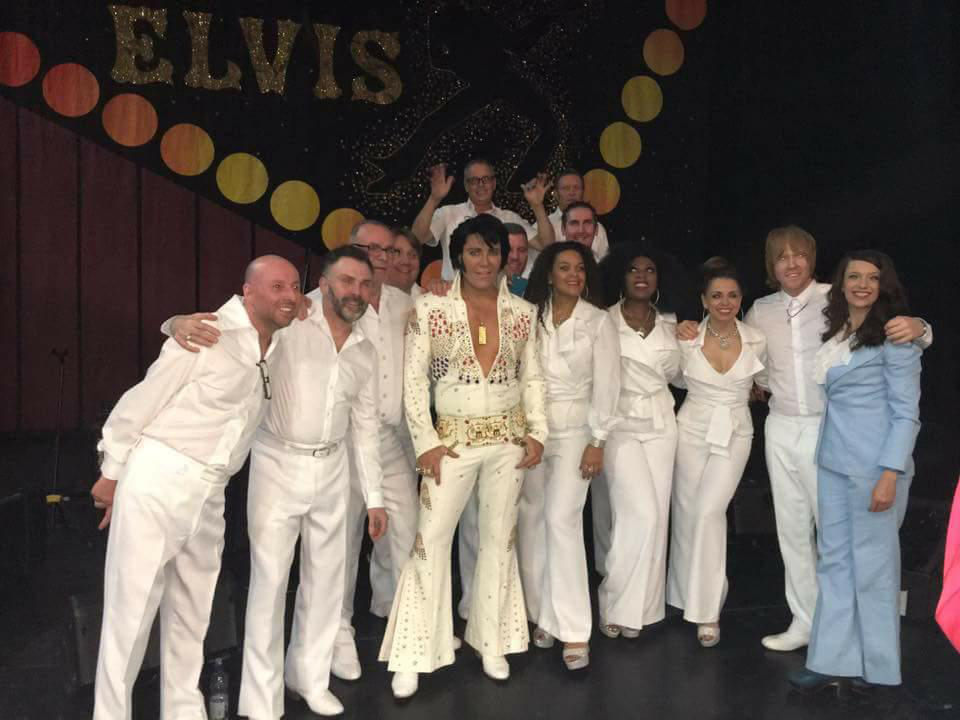 ETA Gordon Hendricks with band and singers at the 02 London, 2015. Jamie is second on the right.  Photo submitted by Jamie Hendricks.