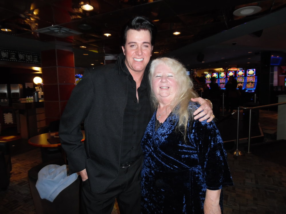 ETA  Matt Cage  and Dot Farr after Matt's fantastic concert at Mohawk Raceway, November 17th, 2017.