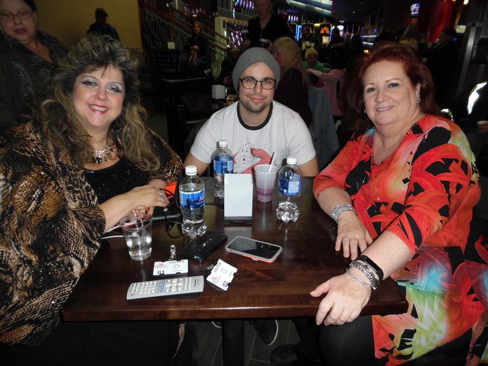Sandra Gold, Josh Gibb, and Sue Harris at James Gibb's show.