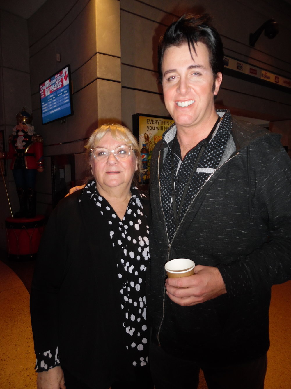 ETA  Matt Cage  and Carolyn in the lobby at Casino Niagara, November 22nd, 2017.