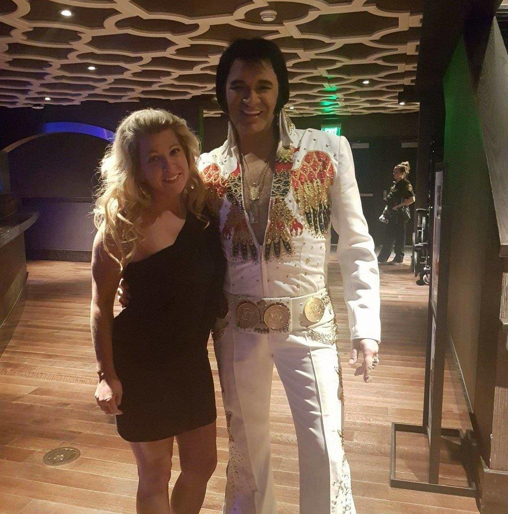 Tim and girlfriend, Brandy at Elvis Explosion, Waterloo, NY.
