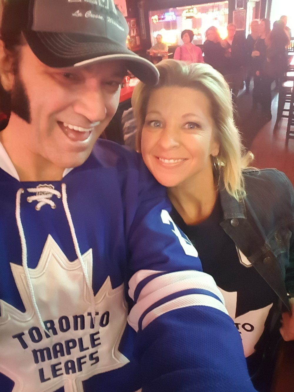 LEAFS!!! Tim and Brandy.