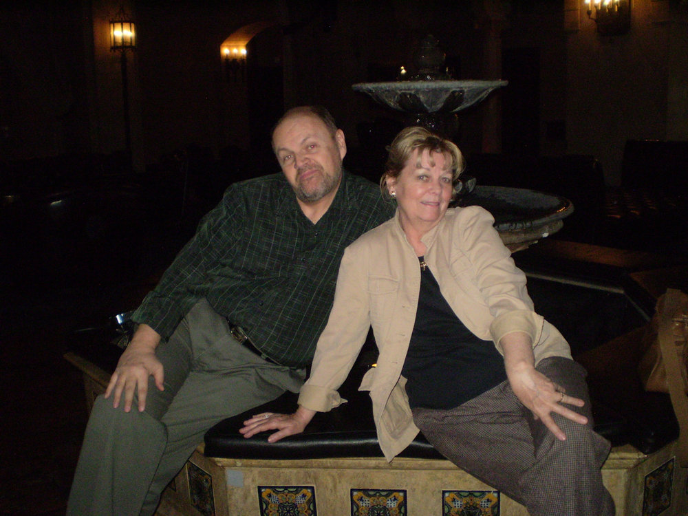 Victor J. Hanson and Cynthia Pepper posing at the Roosevelt Hotel in Hollywood. This is where the very first Academy Awards were held.  Photo by Susan Hanson