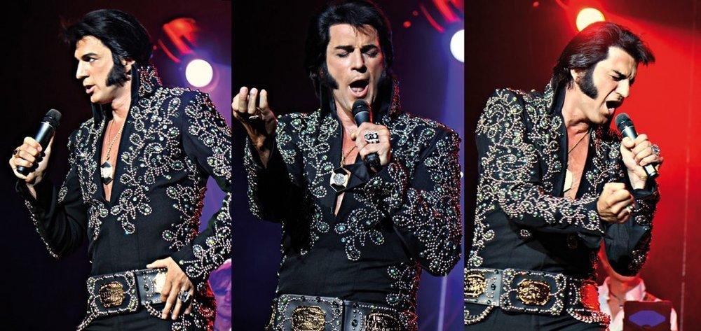 ETA  Oliver Steinhoff  in performance at the 2016 Collingwood Elvis Festival.