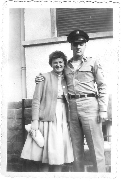 Elvis Presley and Annalise Gemp, Bad Nauheim, 1959.