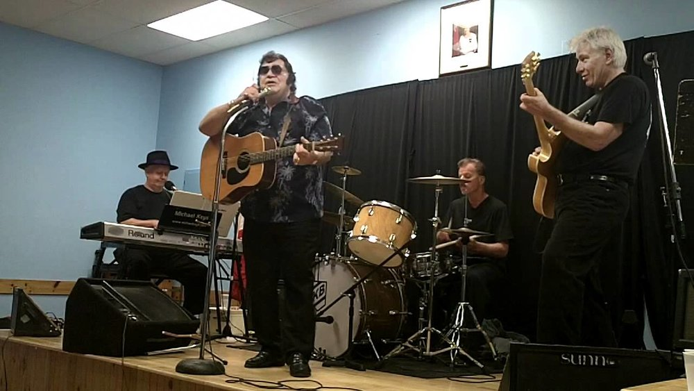 ETA  Douglas Roy , pictured here with the Michael Keys Band at the Ridgeway, Legion, Fort Erie, ON,  shares his story of the night he sang with  Elvis Presley  in 1976.                                                                                                                                                                                                                                                                         Photo from Donnalee Young's video.