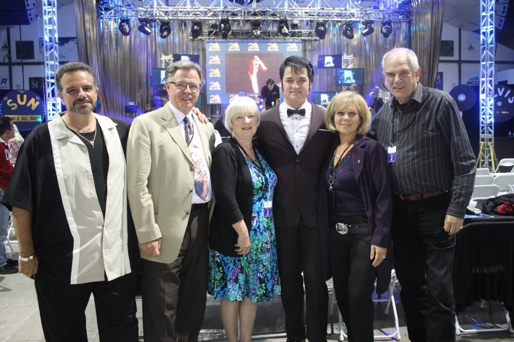 Rose Geoghegan with Collingwood Judges and Emcee, July, 2014.   Photo Credit:  Richard Leonardo.