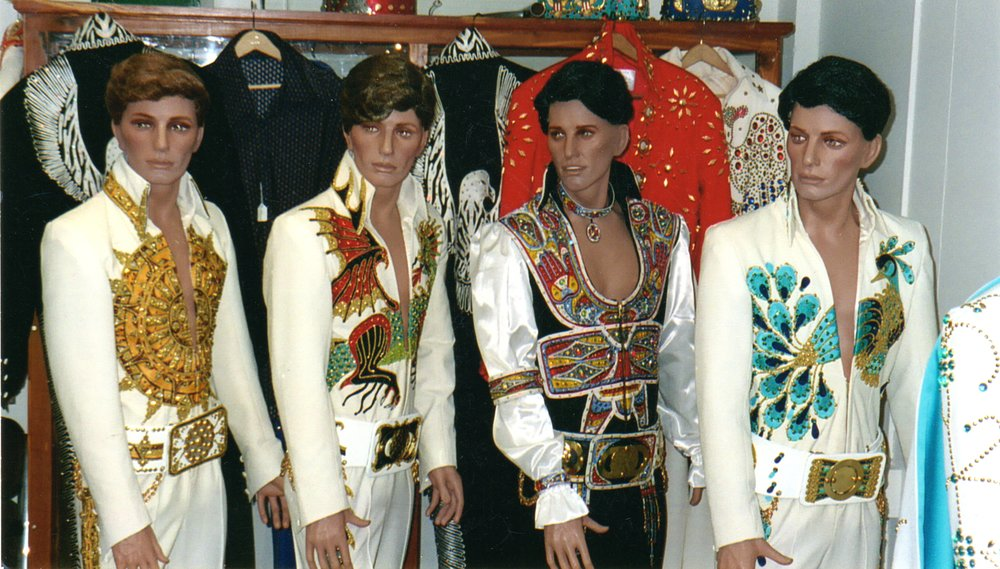 B&K Display Room, showcasing the exquisite Elvis jumpsuits made at B&K Enterprises Costume Company Inc.   Photo Credit:  Butch Polston.