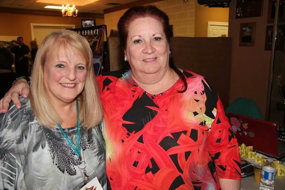 Friends, Pam Pettit and Sue Harris.