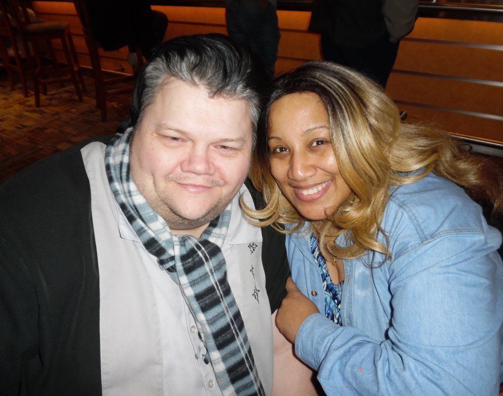ETA  Chris Cooper  with his girlfriend, Tyra Johnson at Mohawk Raceway.