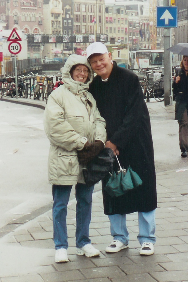 Kim Polston and Bill Belew in Amsterdam.   Photo Credit:  Butch Polston.