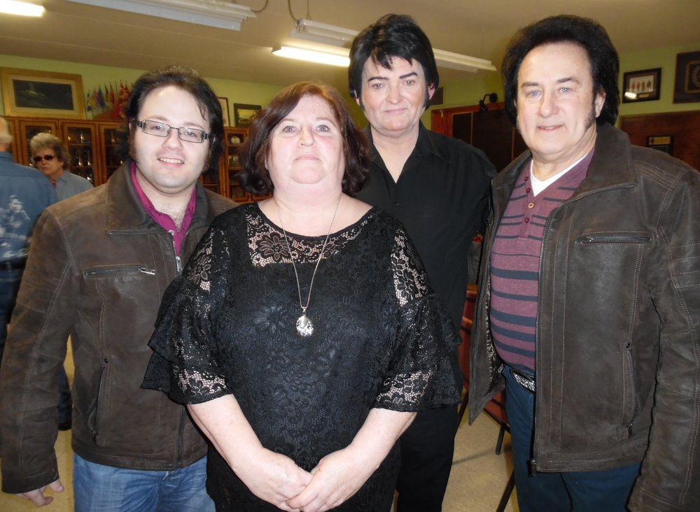 "ETAs Anthony Joseph (L) and Ed Butski (R) attended the ""Valentines with the Legends Show"" that featured many tribute artists, including ETA Gord McNeil as Elvis, pictured here (centre) with his wife Lynn.   Photo Credit:  C.M."