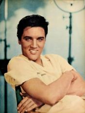 Elvis Presley , born on January 8th, was a Capricorn.  Photo Credit: Modern Screen, June 1958.