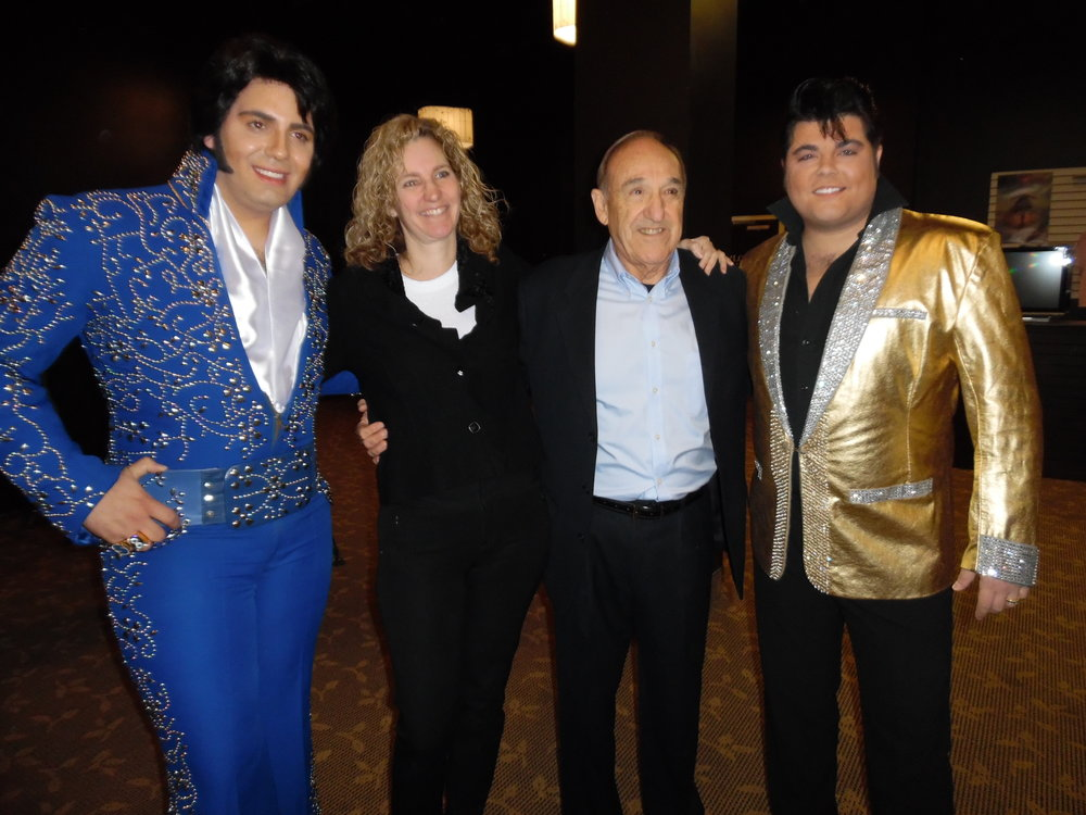 Niagara Falls Elvis Festival Media Launch, Wednesday, April 11th, 2018.  Pictured, left to right:  ETA Bruno Nesci, Heather Busseri, Associate Producer & Media, Tony Busseri, Co-Founder of ARB Productions, and ETA Richard Wolfe.