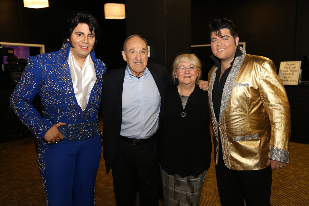 ETA Bruno Nesci, Tony Busseri, Co-Founder of ARB Productions, Carolyn MacArthur, Editor of SIDEBURNS Magazine, and ETA Richard Wolfe.   Photo Credit:  Chris Chabot, Digital Creative Marketing Manager, Greg Frewin Theatre and Niagara Falls Elvis Festival.