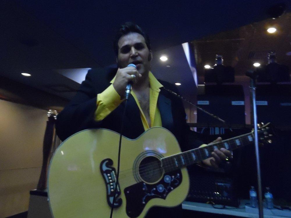 ETA  Anthony Von  performing at Flamboro Downs, Friday, April 13th, 2018.  Photo Credit: C.M.