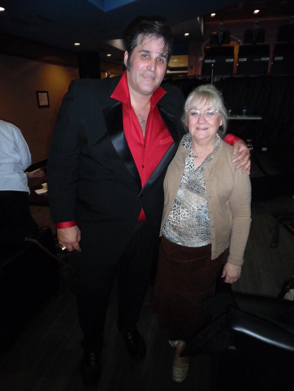 ETA  Anthony Von  with Carolyn MacArthur, Editor, SIDEBURNS Magazine.