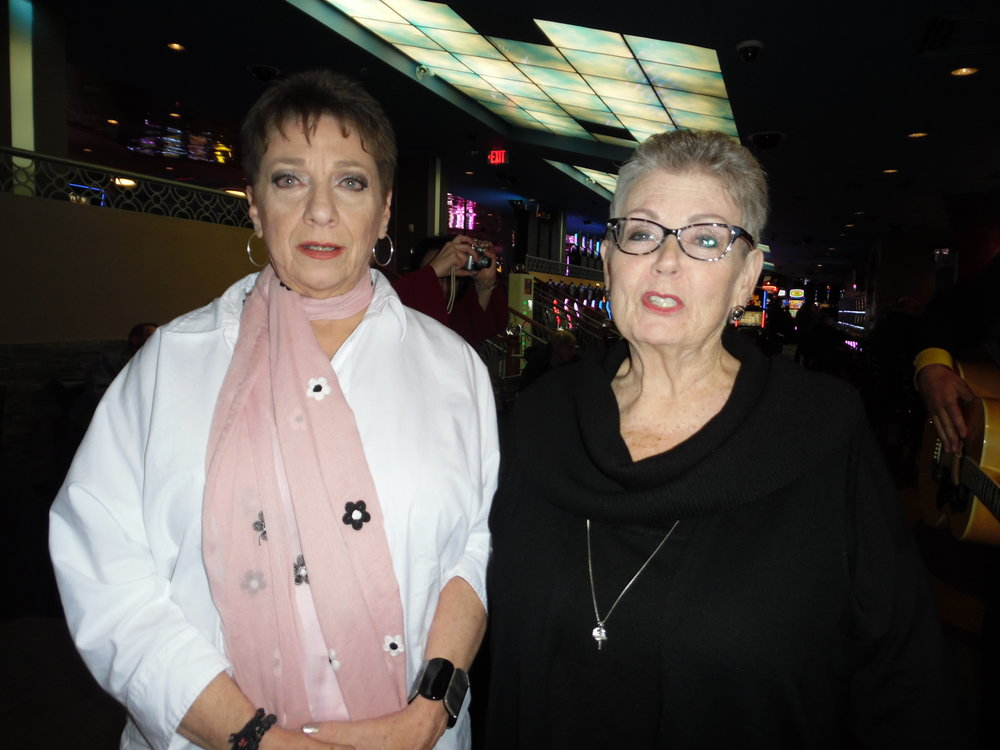 The two ladies pictured here, who have known ETA  Anthony Von  since the early years, came to see his show at Flamboro.