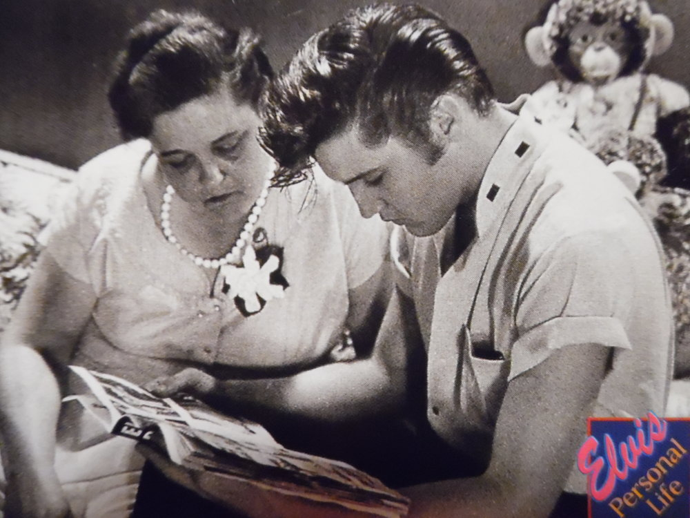 This lovely photo of Elvis Presley with his mother, Gladys, is from  The Elvis Collection.  #325/660.