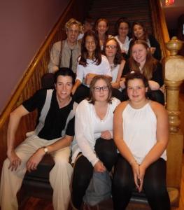 ETA  Matt Cage  and actor/musician Gerrad Everard pose with volunteers at the Drayton Opera House.  Photo Credit: C.M.