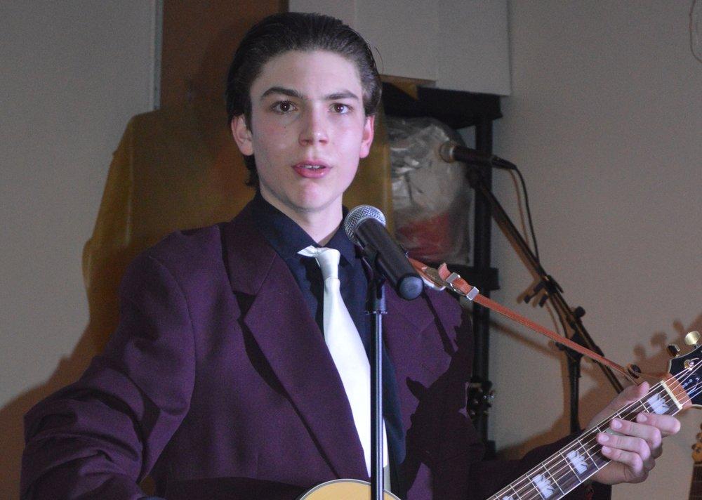 Tribute Artist Aidan Iannandrea.  Photos, courtesy of A. Iannandrea.