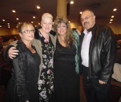 Rita, Trish, Sandra, and Marcello just before ETA  Thane Dunn 's show.  Photo Credit: C. MacArthur.